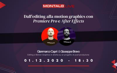 Dall'editing alla motion graphics su Premiere Pro e After Effects (LIVE)