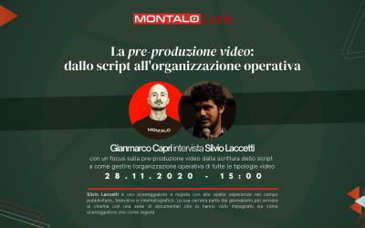 Pre-produzione video, dallo script all'organizzazione operativa (LIVE)