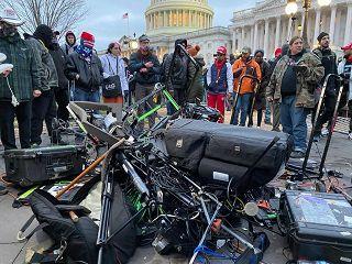 Telecamere distrutte nell'assalto al Congresso di Washington